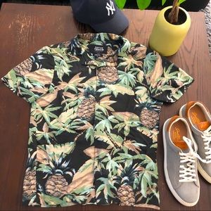 Native youth casual airy summer button up